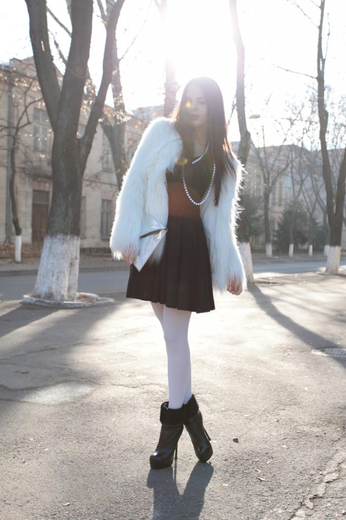 LBD and white fur