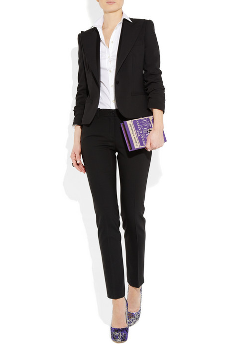 Office Outfit - Black - clutch Olivia Le-Tan