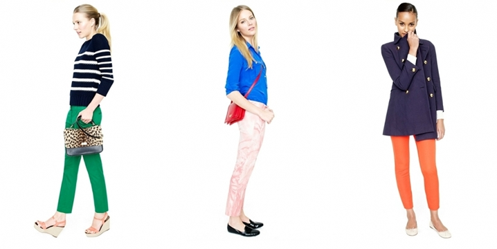 J Crew -  Spring / Summer 2012 - Bright colors