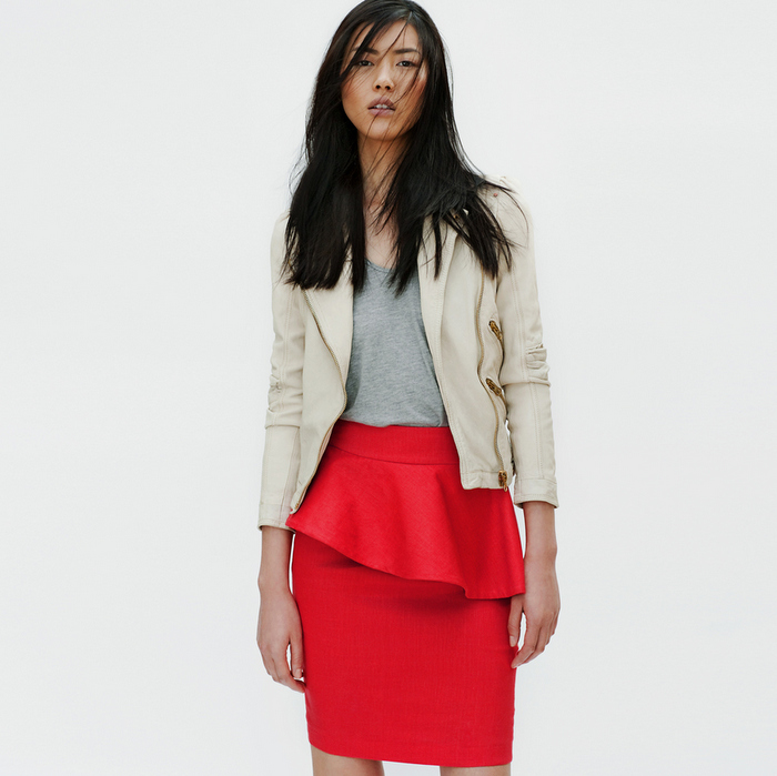Zara - Lookbook 2012 - Coral Skirt