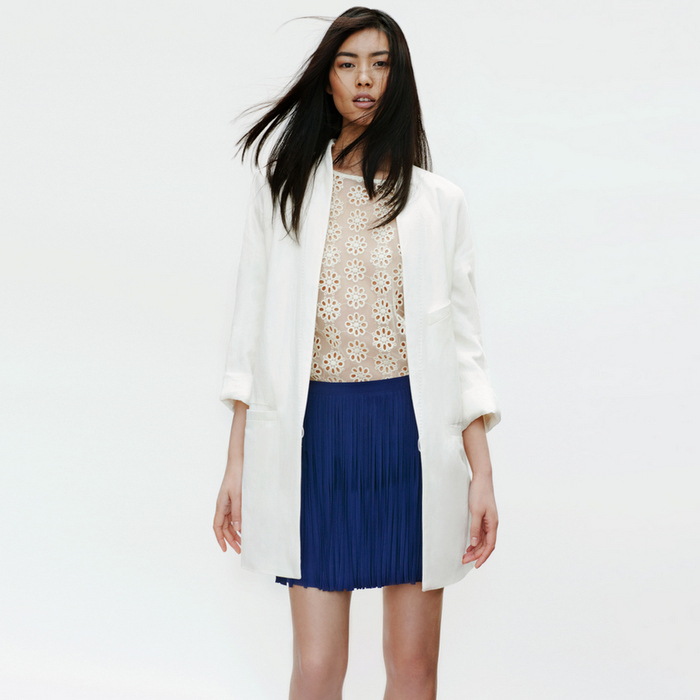Zara - Lookbook 2012 - Blue Skirt