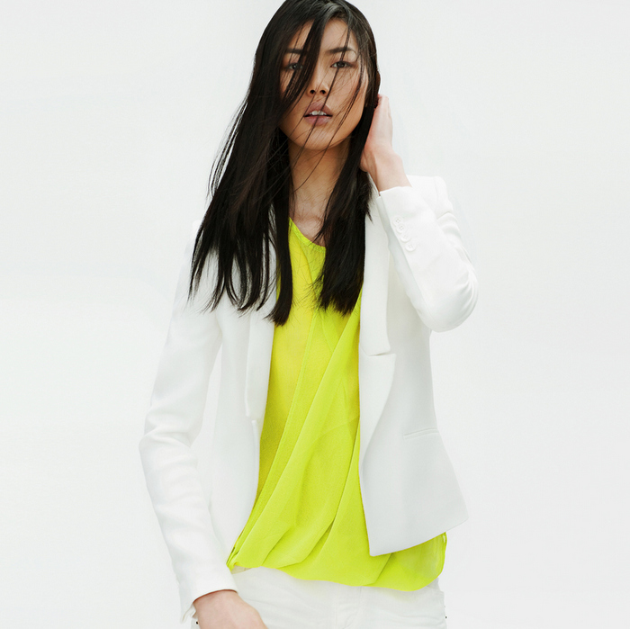 Zara - Lookbook 2012 - White Jacket