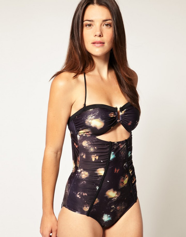 Asos Digital Print Swimwear