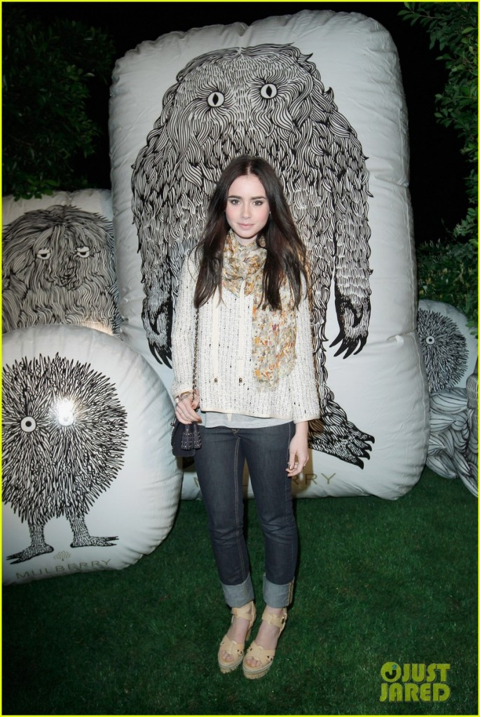 Mulberry Firepit Party At Coachella - Lily Collins