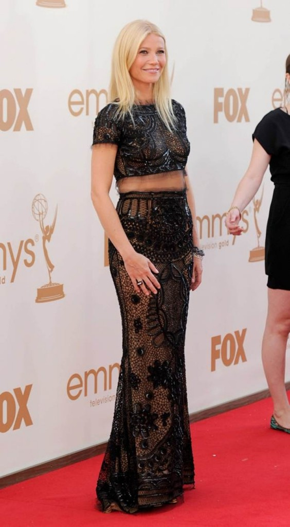 Gwyneth Paltrow - Cropped top maxi skirt outfit Emmy Awards