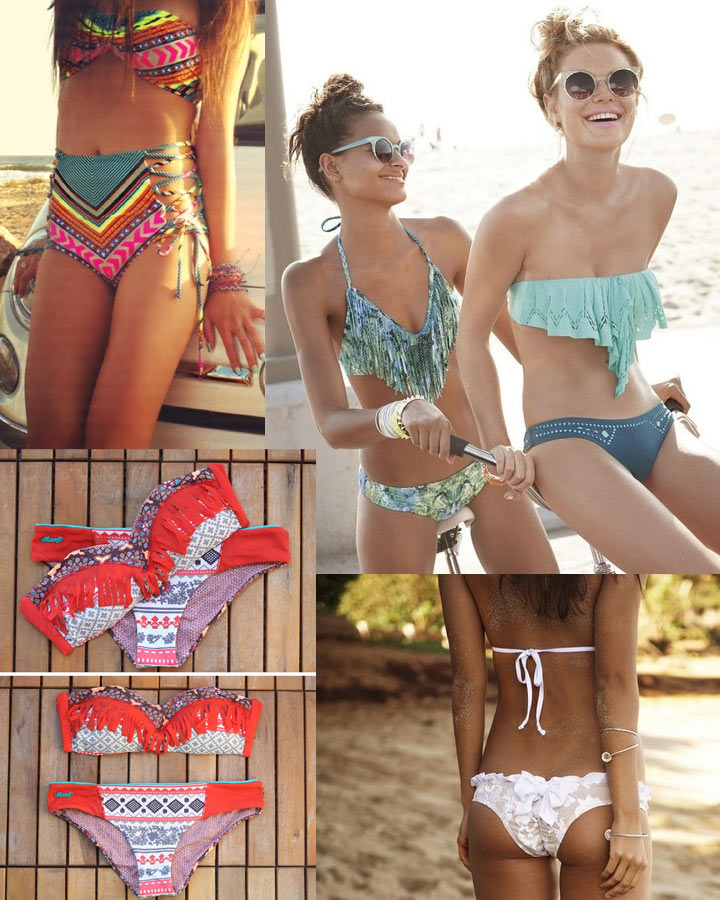 Bohemian Swimwear styles - Fringe, Aztec and Crochet