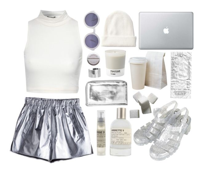 Silver Shorts -Metallic Outfits