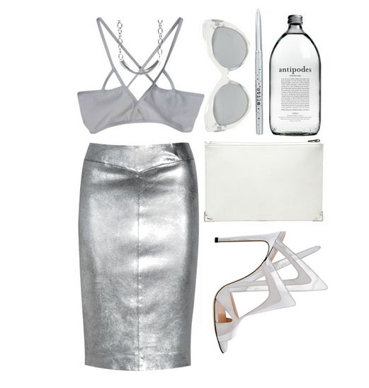 Silver Skirt -Metallic Outfits