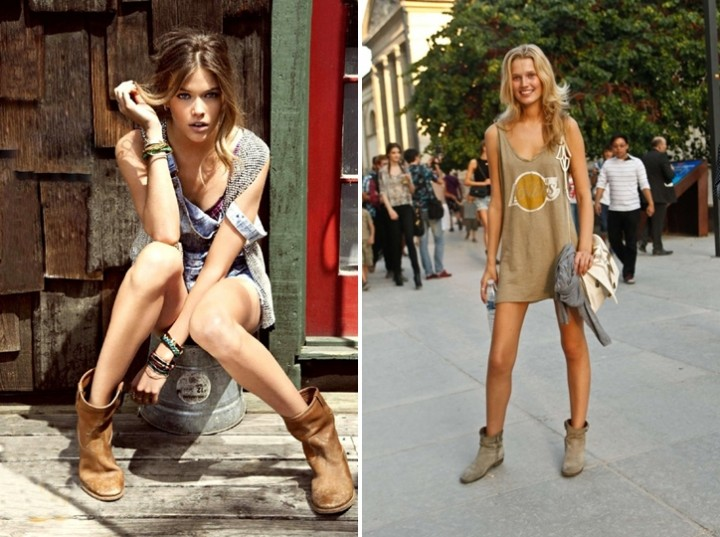 Summer Boots - Suede nude boots - Streetstyle
