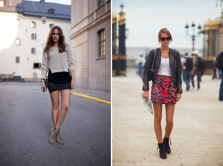 Summer Boots - Streetstyle skirt outfits