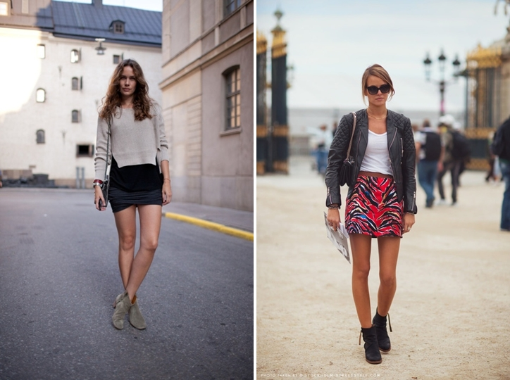 Summer Boots - Streetstyle skirt outfits - ADORENESS