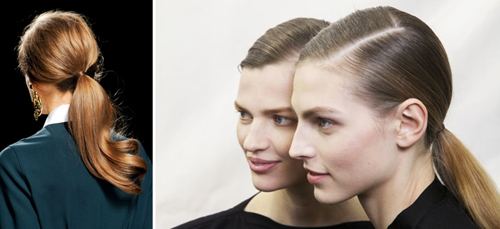 FW13 - Hair trends - low ponytails