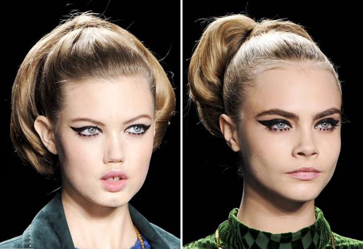 Anna Sui fluffy ponytail 50s hair