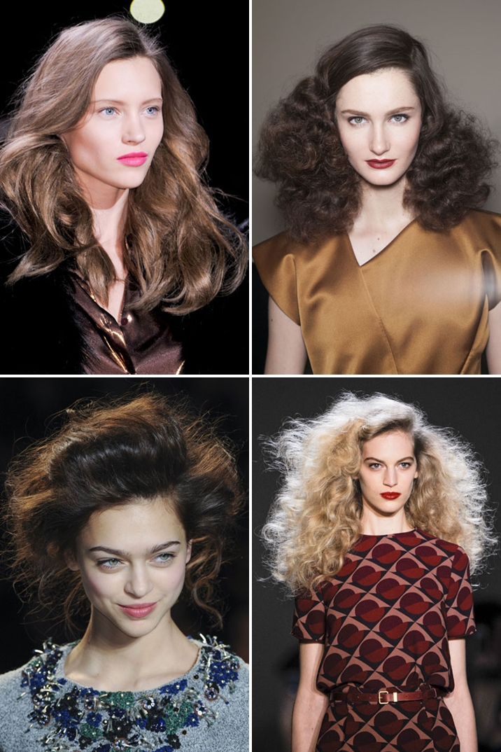Elegant hairstyles with volume trends