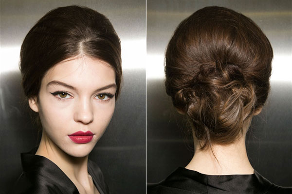 Hair Trends Dolce and Gabbana Elegant chignon hairstyles