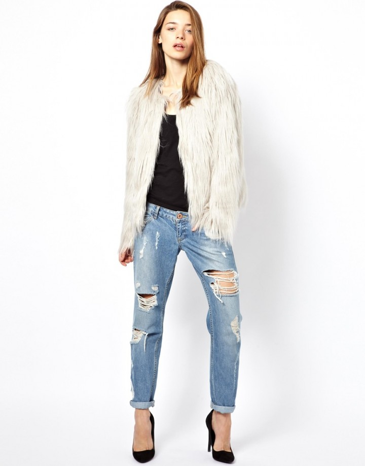 Styling a silver fur coat