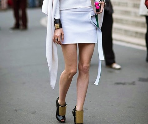 Street Style Paris Fashion Week - white outfits