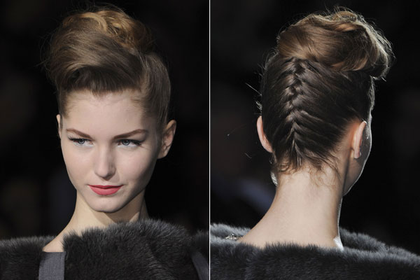 Wedding Hair trends - The Braided updo at Badgley Mischka