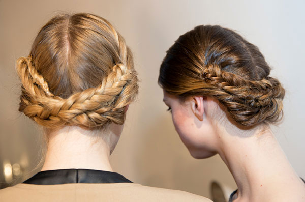 Wedding Hair trends - The Braided updo at Christian Siriano