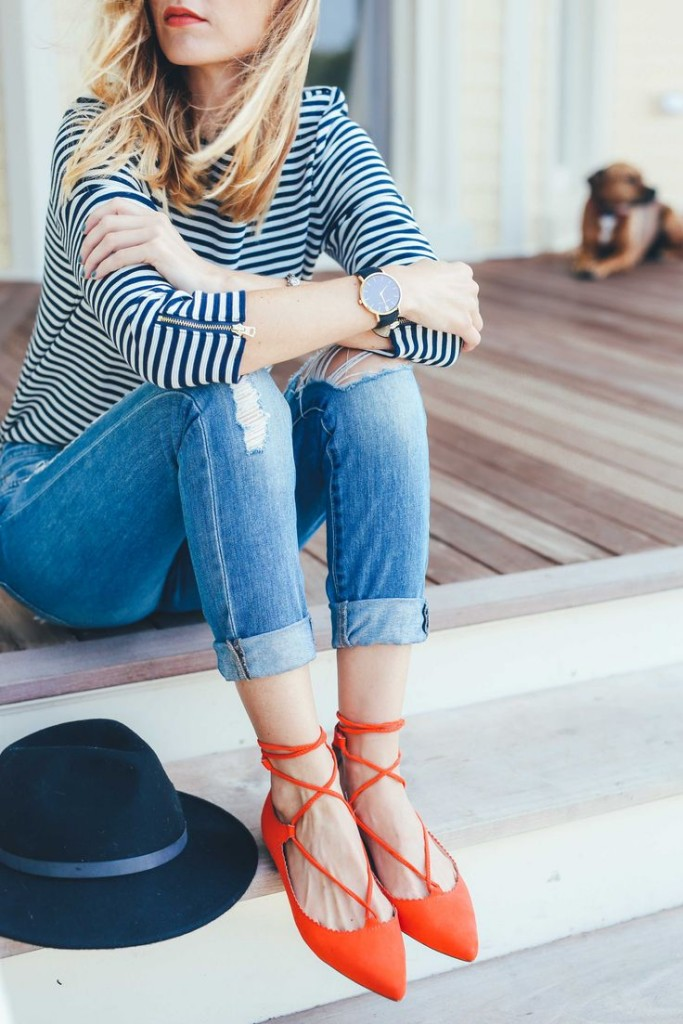 lace-up-flats-red