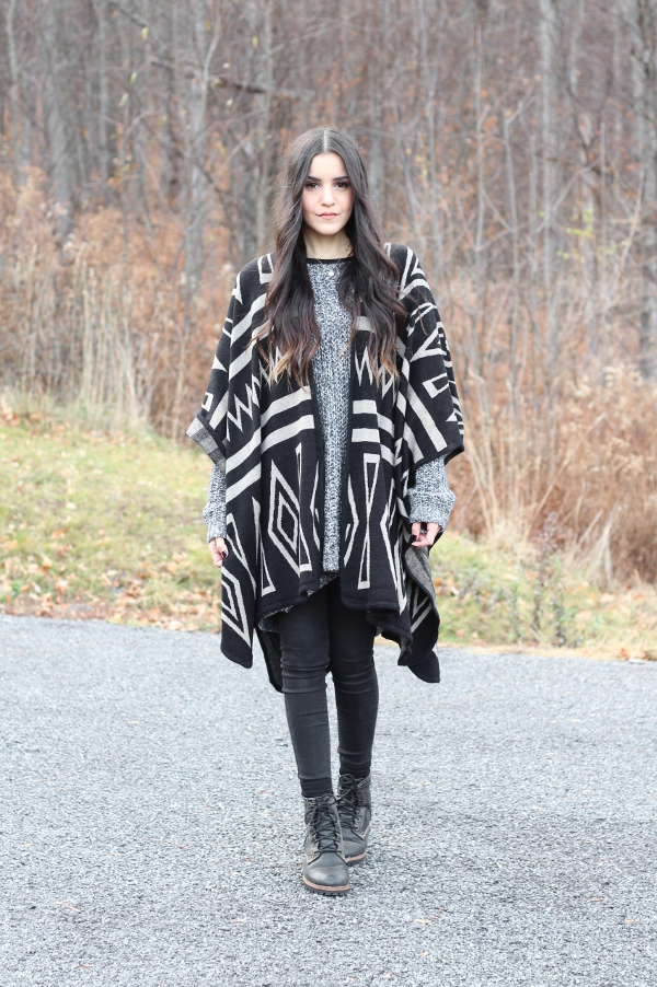 New year eve outfit poncho