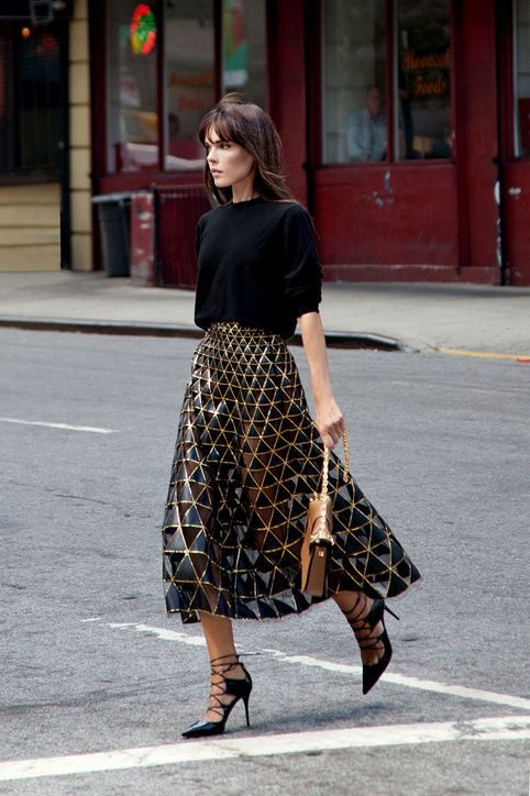 new year eve romatic dinner midi skirt