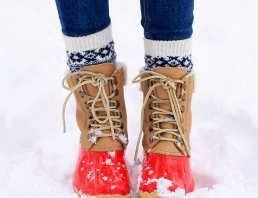 winter Weather boots red