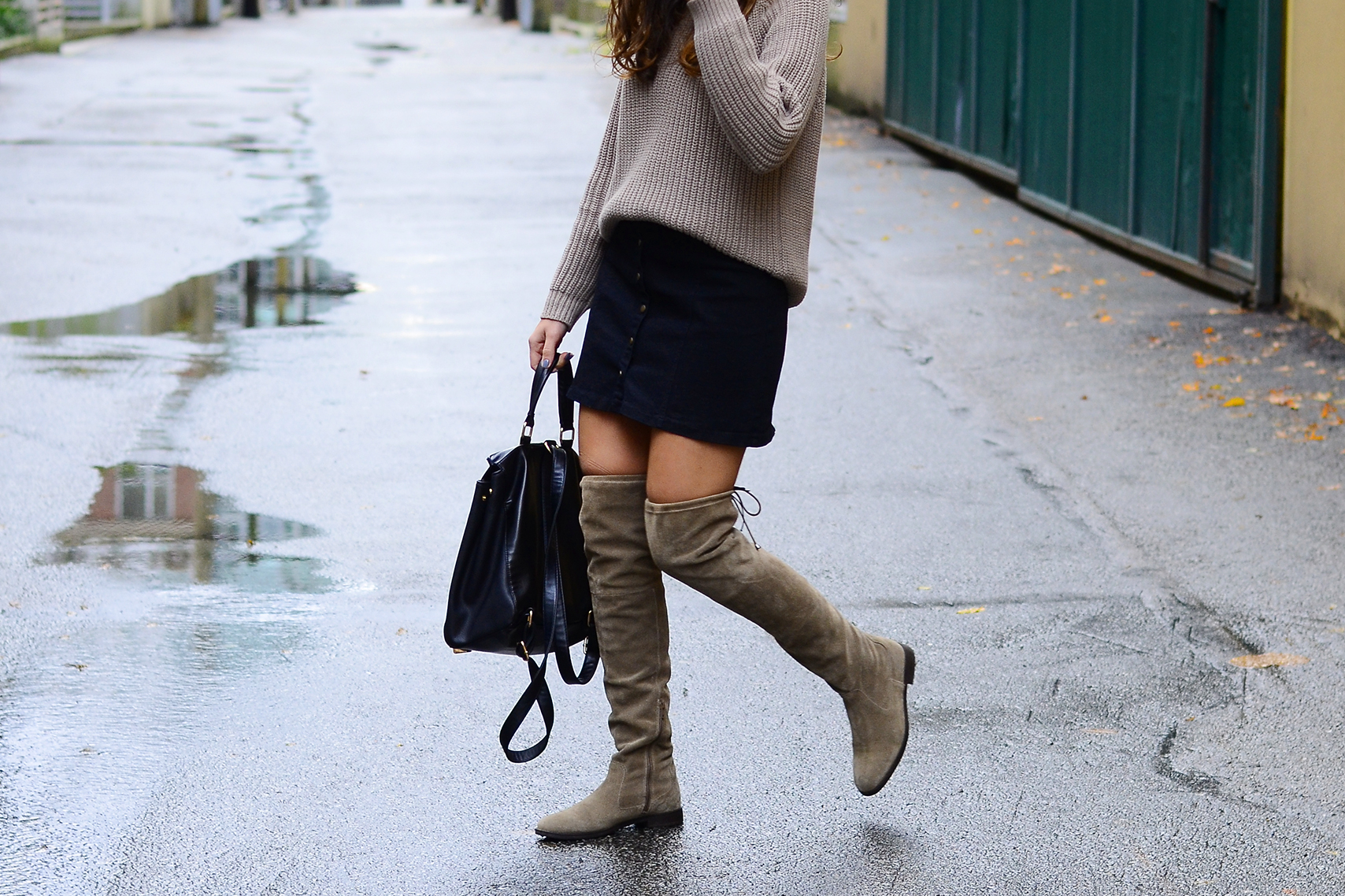 Skirts and Over the Knee Boots ADORENESS