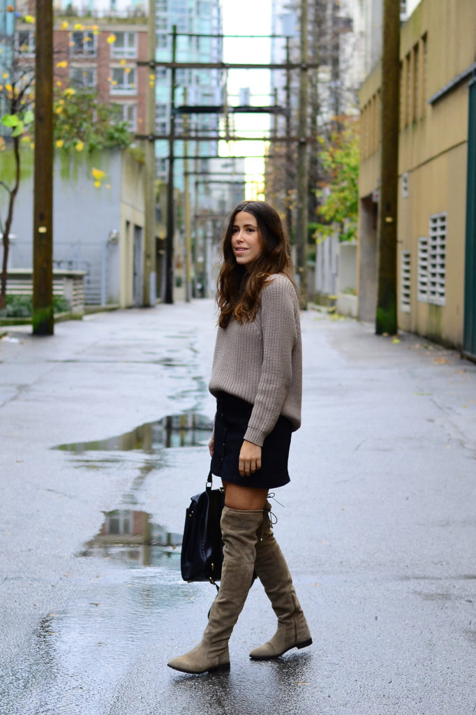 Skirts and Over,the,Knee Boots , ADORENESS