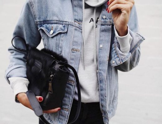 denim jacket and hoodie outfit